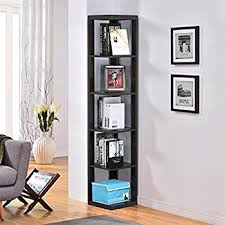 Lyss 5 Tier Corner Ladder by Amazon Com Lyss 5 Tier Corner Ladder Bookcase Shelf In Black