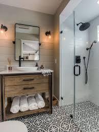 ideas bathroom transitional bathroom ideas exle of a black and white tile cement