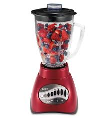 Small Red Kitchen Appliances - amazon com oster 6844 6 cup glass jar 12 speed blender metallic