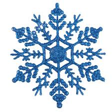 12pcs bulk glitter snowflake ornaments tree hanging
