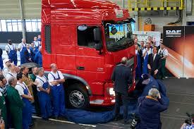 semi truck configurator prime minister rutte unveils millionth daf truck manufactured in