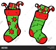 cartoon christmas stocking image u0026 photo bigstock