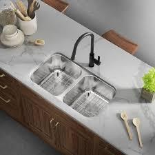 metal kitchen sink and cabinet combo allora usa ksn 3318 combo 33 x 18 x 9 undermount