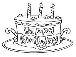 happy birthday cake coloring page 86 7062