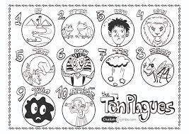 ten plagues coloring page eson me