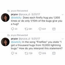 Give Me A Hug Meme - owl city pryce great question i was the recipient of