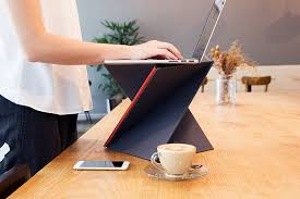 Portable Standing Laptop Desk This Portable Standing Desk Folds To The Size Of A Magazine