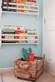 Wall Bookshelves For Nursery by Great Idea For Small Nursery Wall Mounted Book Rack Place Under