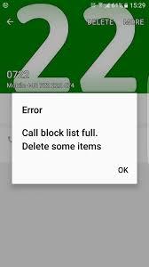 call block list full delete some items samsung galaxy s7