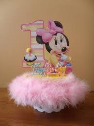 baby minnie mouse 1st birthday baby minnie 1st birthday cake topper or centerpiece