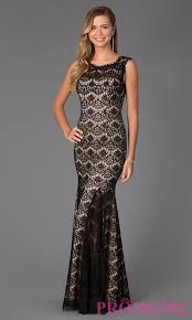 betsy and adam dresses prom dress black with underlay style ba a15432 front image