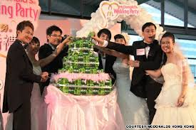 wedding cake hong kong would you like a with that mcdonald s offers weddings cnn