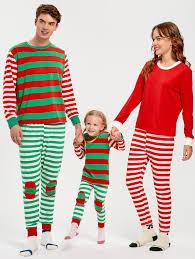 pajamas kid 130 patched striped family pajama set