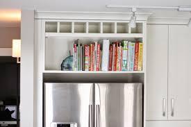 Shelves Above Kitchen Cabinets by Femme Eng Above The Fridge Cookbook Shelf