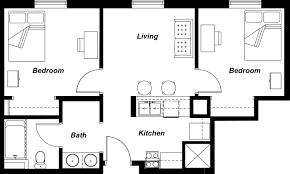 Two Bedroom Floor Plans House by 2 Bedroom House Plan Indian Style Inspired Plans Apartment Floor