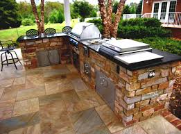kitchen outdoor kitchens design with television and wet bar by