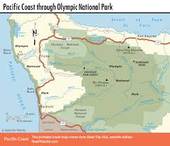 San Diego State Map by Olympic National Park Pacific Coast Route In Washington State