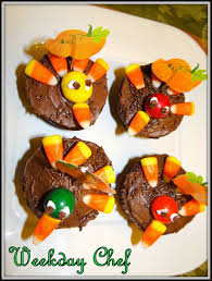 fun thanksgiving treats weekday chef turkey cupcakes and scarecrow cupcakes for