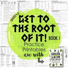 greek and latin root words book 1 by got to teach tpt