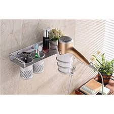 Hair Dryer And Flat Iron Holder Wall Mount hair dryer holder sanmersen wall mount hair dryer