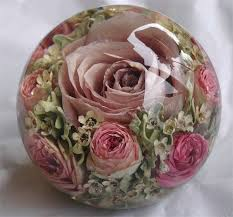 wedding flower preservation paperweight lilac sensation