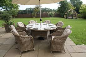 8 Chair Patio Dining Set - maze rattan winchester 8 seat round dining set round chairs