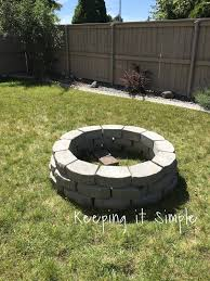 Diy Patio With Pavers How To Build A Diy Fire Pit For Only 60 Keeping It Simple Crafts