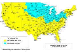 Map Of Florida Colleges by Minnesota At Michigan Tv Map Espn College Football The Daily Gopher