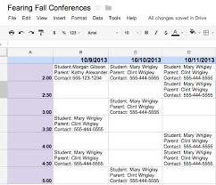 edtechyness 3 ways to use google docs to schedule parent conferences