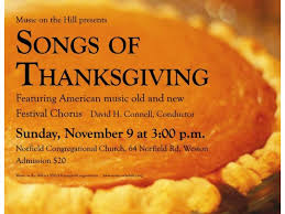 songs of thanksgiving and a festive concert in wilton