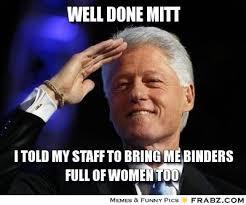 Binder Meme - what does a binder full of women look like