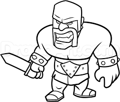wallpapers clash of clans pocket how to draw clash of clans barbarian step 14 crafts pinterest