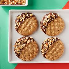 chocolate dipped peanut butter cookies land o lakes simple