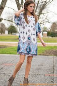 favorite casual multi print long sleeve round neckline with