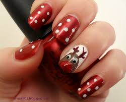 16 lovely christmas nail designs with reindeer