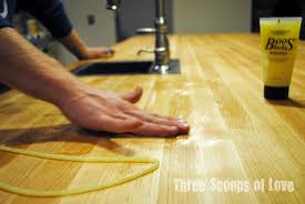 three scoops of love our butcher block island