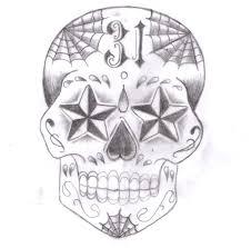 sugar skull design 02 by buggmod on deviantart