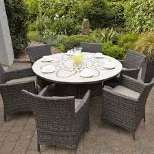 6 Seat Patio Dining Set Savannah 6 Seat Round Dining Set Weave Outdoor Furniture Great