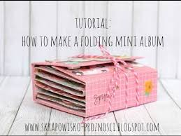 Picture Albums Tutorial How To Create A Folding Mini Album Youtube
