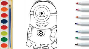 how to draw coloring pages how to draw minions and learn coloring pages painting cartons