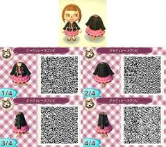cute frilly dress black leather jacket animal crossing qr codes