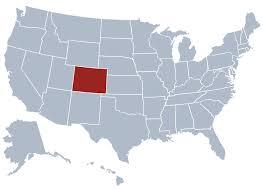 map us states colorado colorado location on the us map colorado state information
