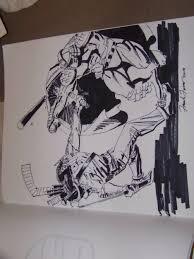 frank fosco casey jone vs shredder sketch tmnt teenage mutant