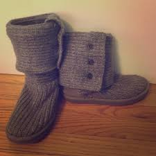 womens ugg knit boots 44 ugg shoes grey knit fold uggs size 7 from shannon s