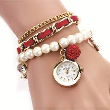 pearl bracelet watches images Buy skylofts casual pearl bracelet watches at lowest price jpg