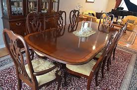 chippendale dining room set ethan allen mahogany chippendale dining room set 8 500 00 picclick