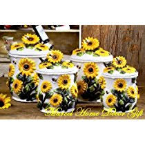 sunflower kitchen canisters sunflower kitchen decor the shoppers guide