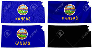 Kansas State Flag Collage Of Business People In Shape Of United States Map Stock