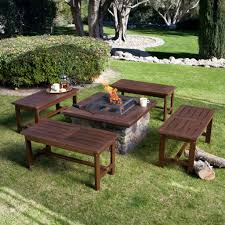 Rustic Firepit Rustic Pit Benches A Design And Ideas Picture With Awesome