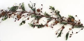 60 cedar pine cone and berry garland florals